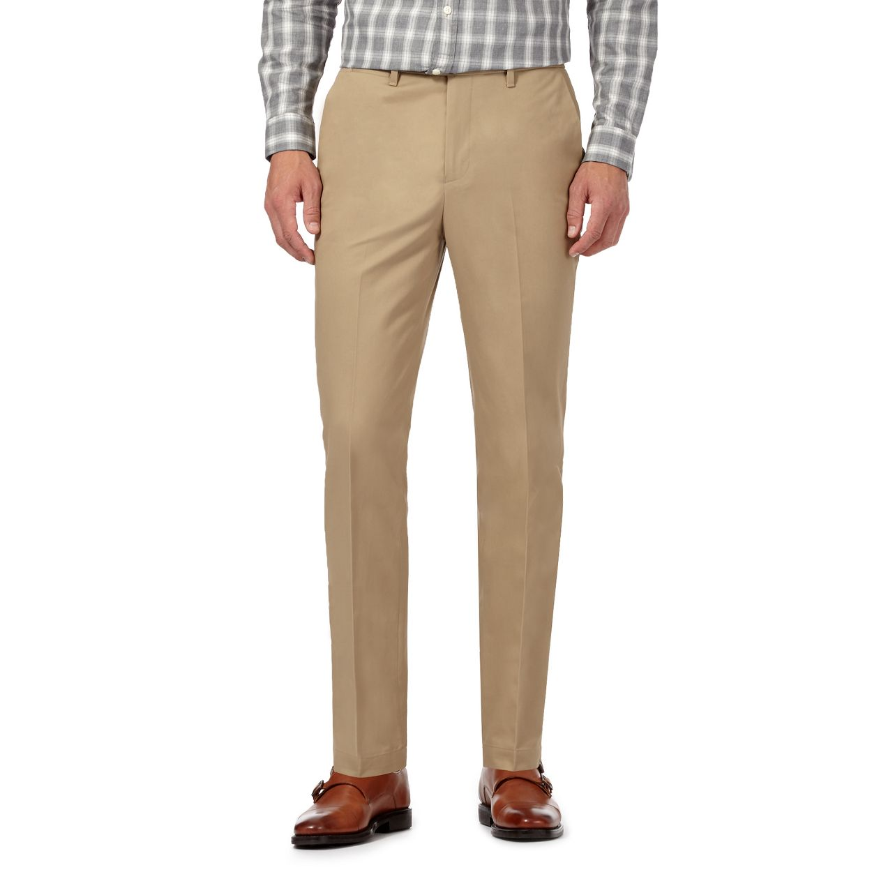 Hammond & Co. by Patrick Grant Natural Beige tailored fit chinos