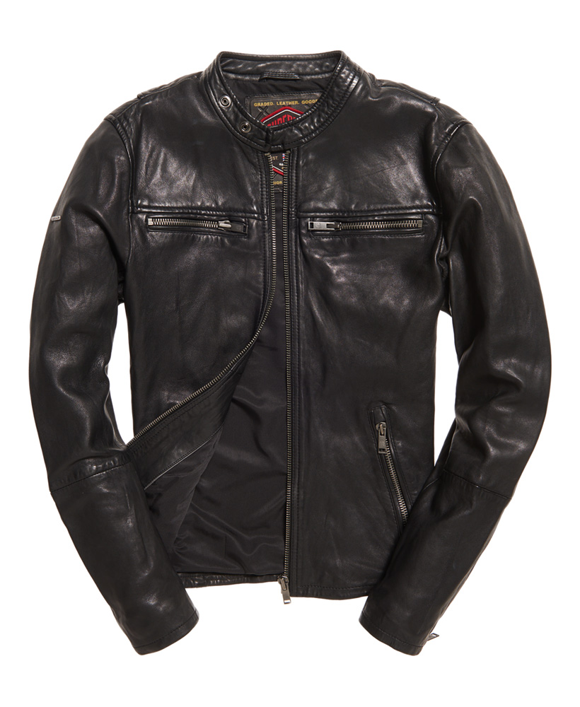 ec7fc3d03b1c Real Hero Leather Jacket by Superdry — Thread
