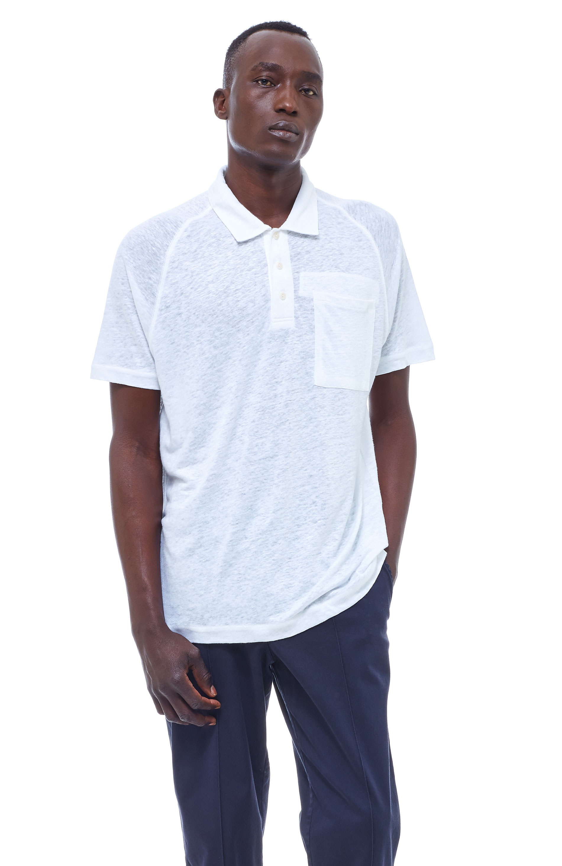 YMC Young Marble Giants Polo (white)