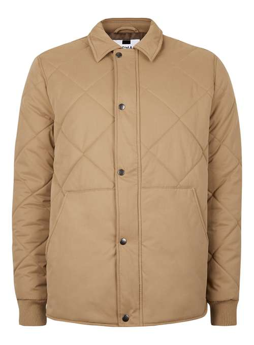 Stone Quilted Coach Jacket By Topman Thread
