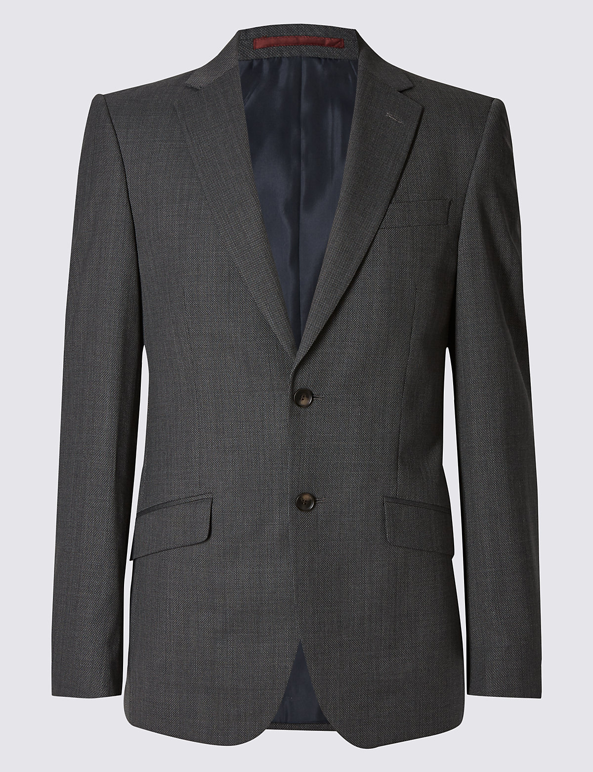 Marks & Spencer Grey Textured Slim Fit Jacket
