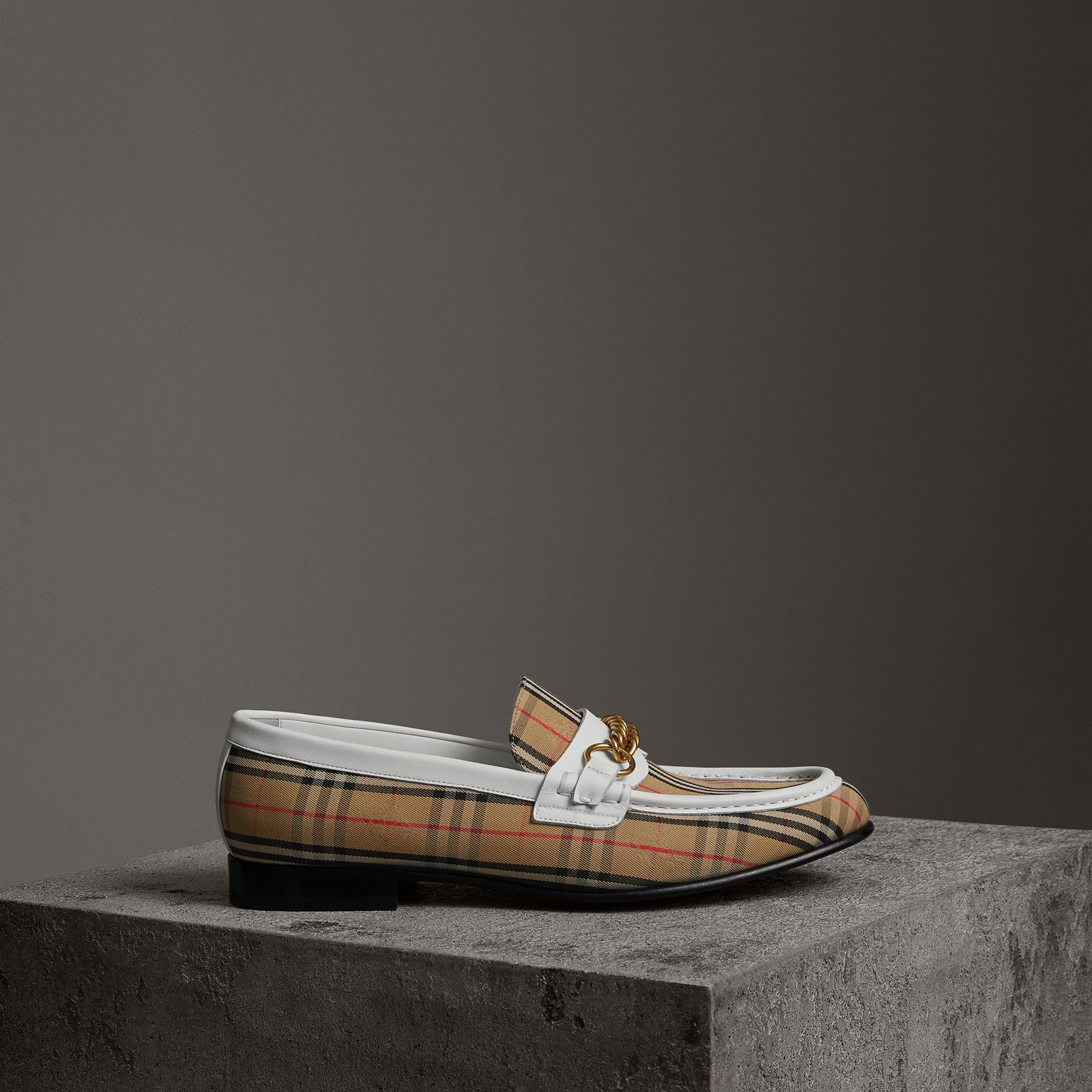 Burberry Off White The 1983 Check Link Loafer