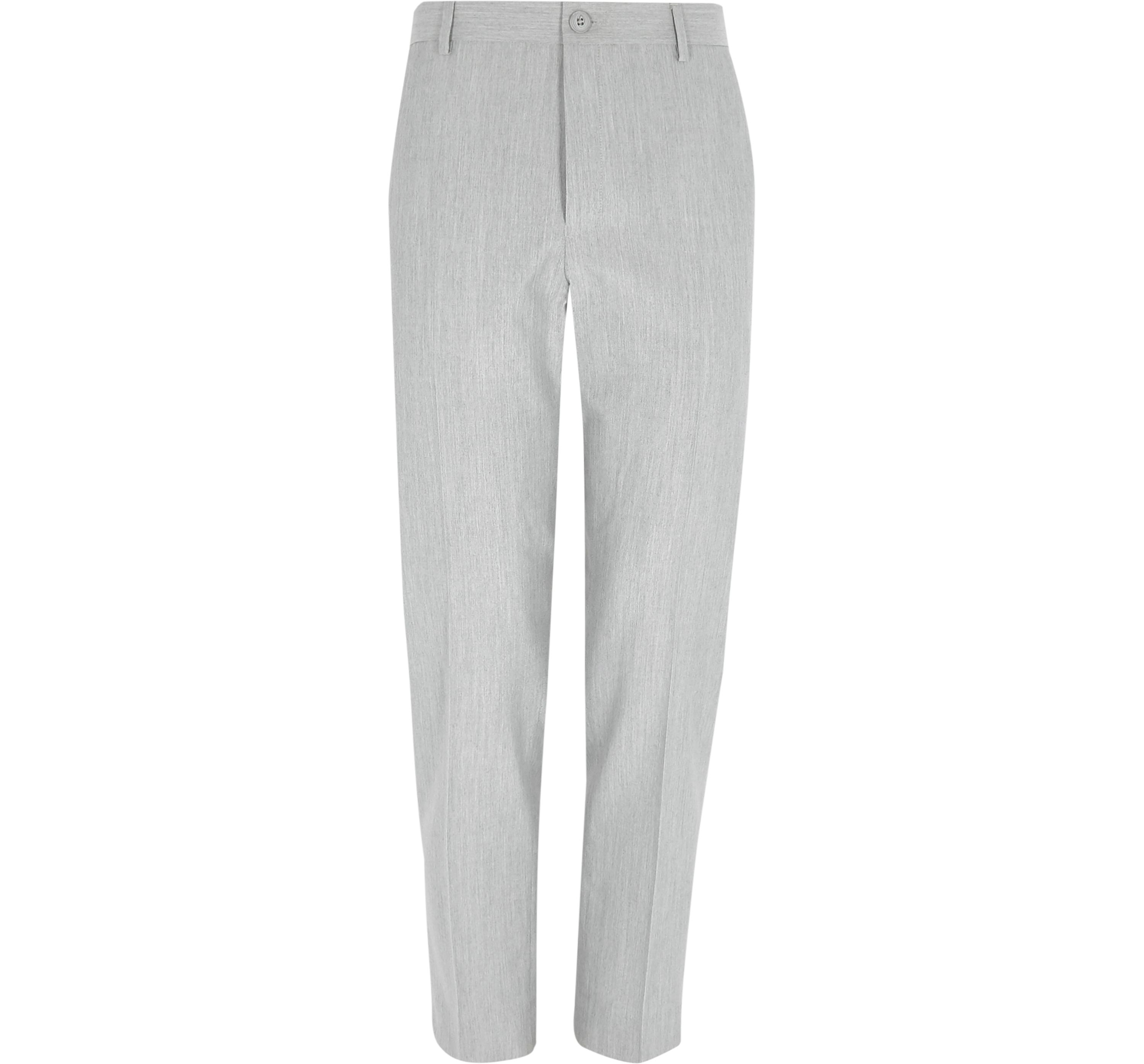 River Island Mens Light Grey scratch skinny fit smart trousers