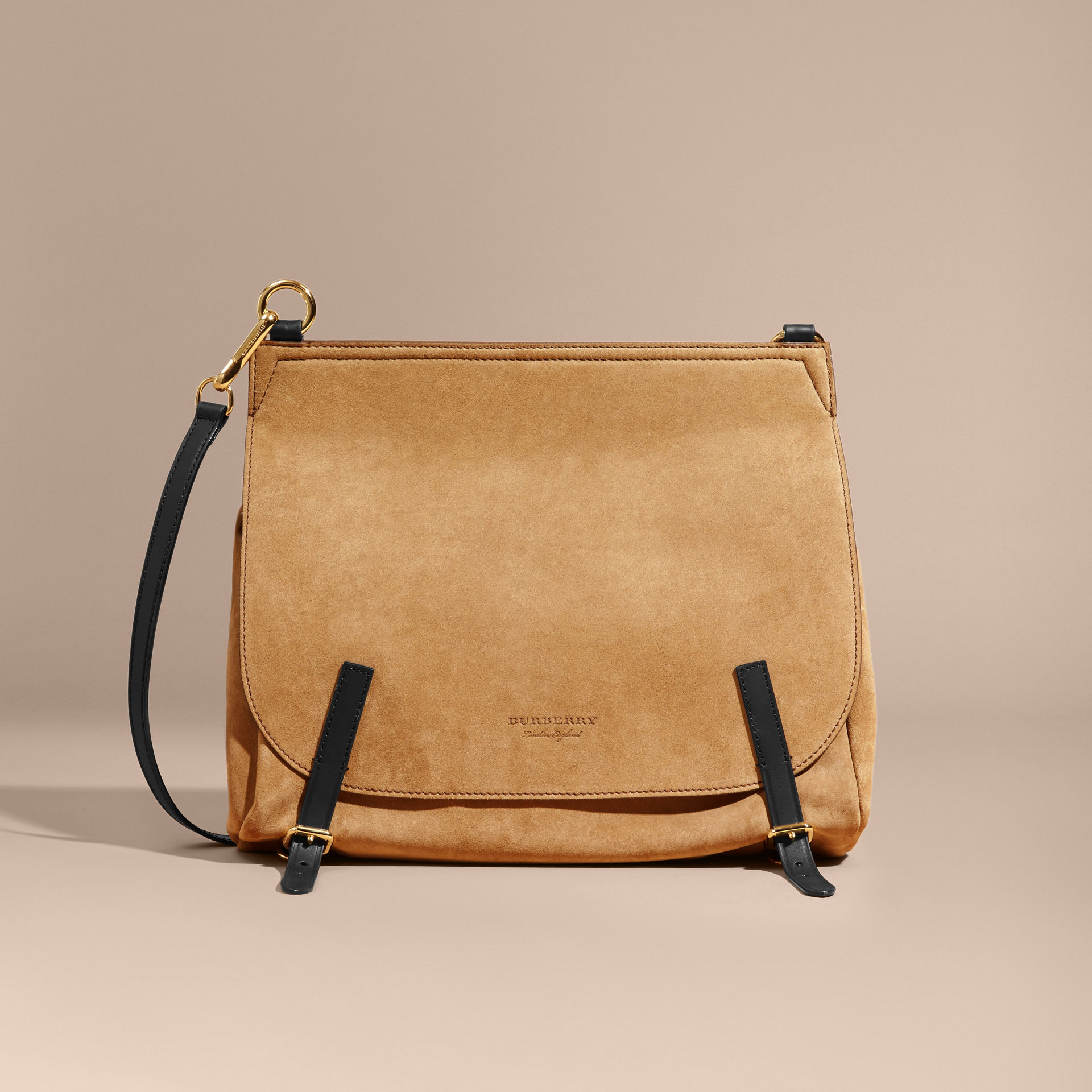 Burberry Flax The Medium Bridle in Suede