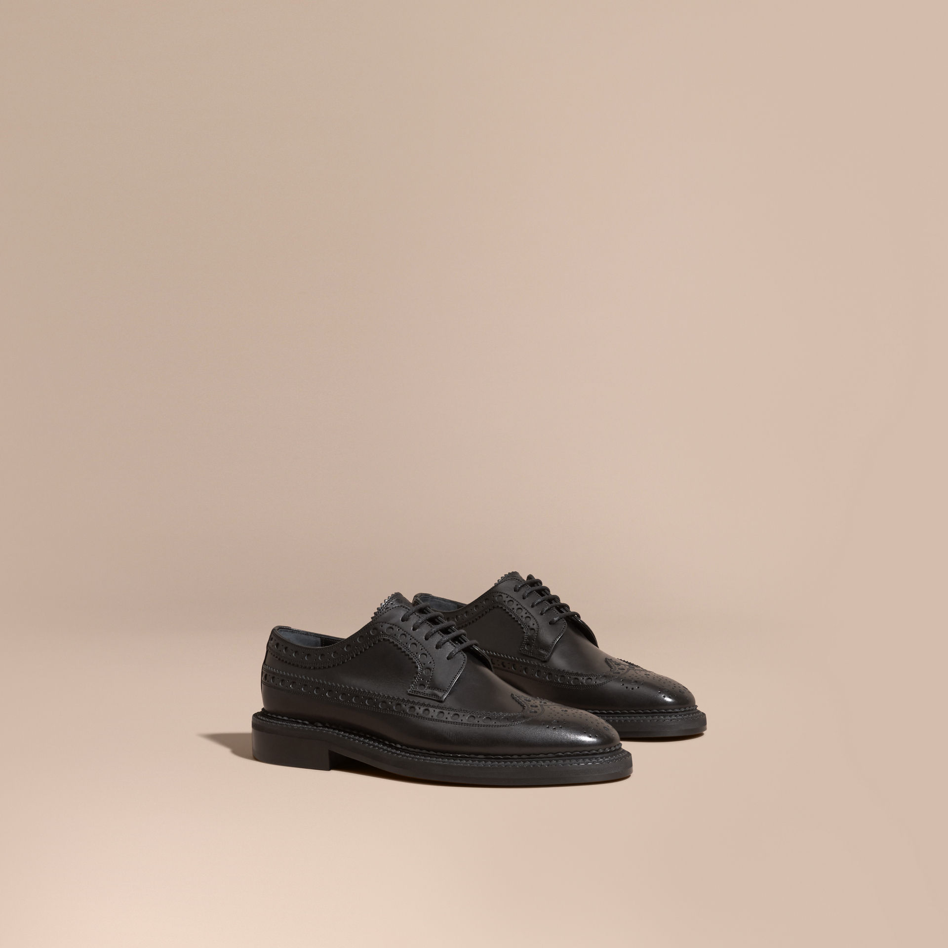 Burberry Black Leather Wingtip Brogues