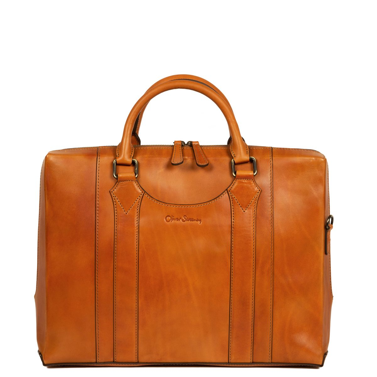 Oliver Sweeney Exeter Tan - Leather Laptop Bag