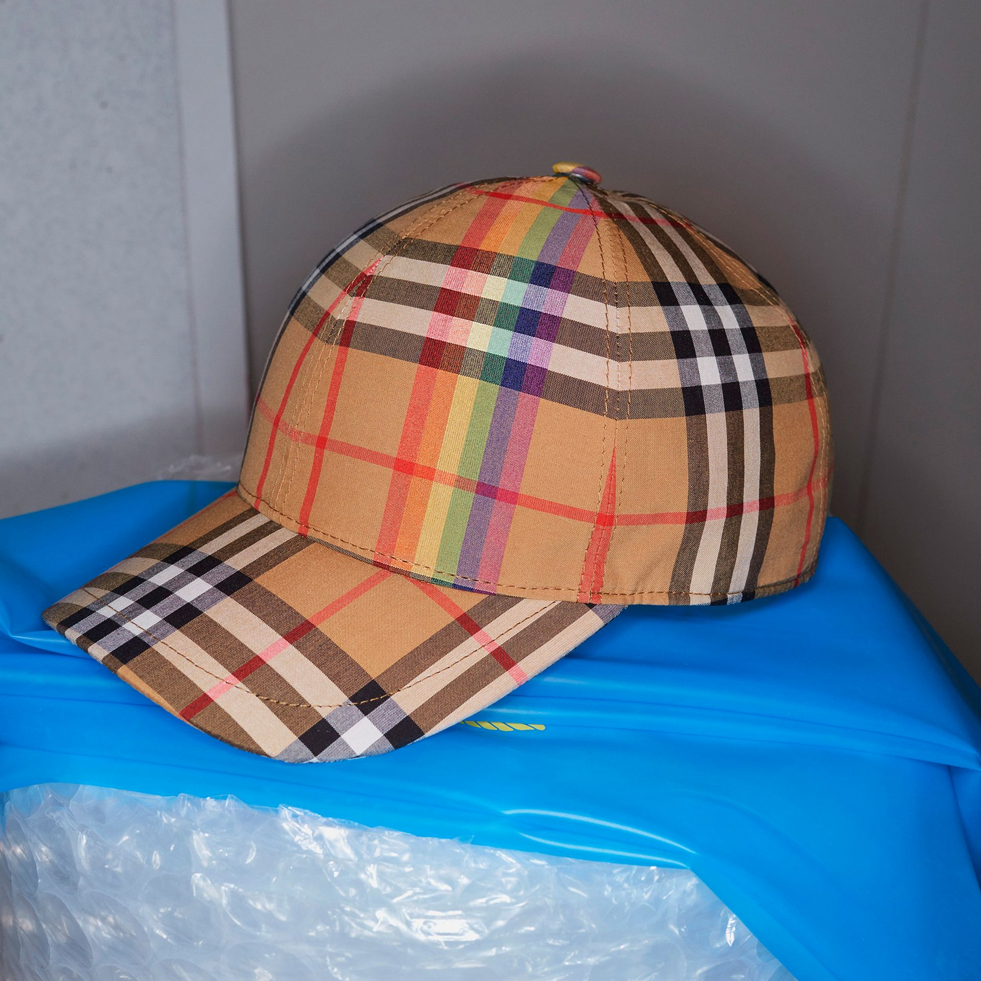 59f7b5a5a53 Rainbow Vintage Check Baseball Cap by Bur... — Thread