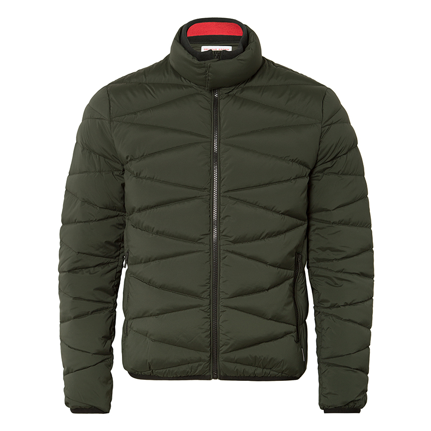 Orlebar Brown NEWLAND Forest Green Quilted Funnel-Neck Jacket