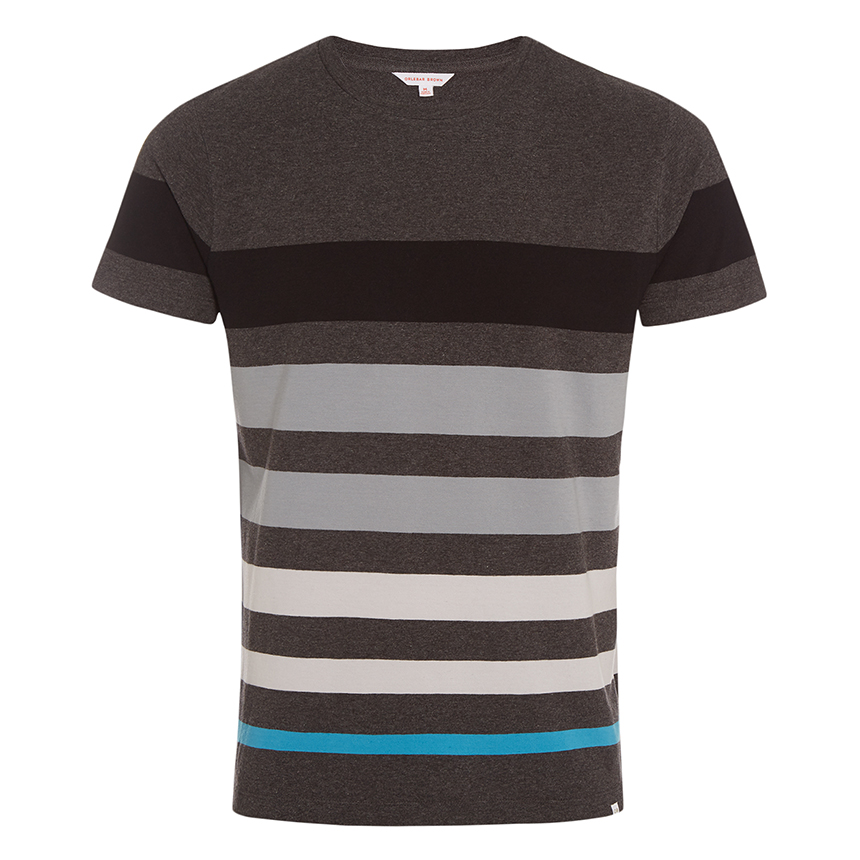 Orlebar Brown SAMMY Anthracite/Fossil Cotton Classic-Fit T-Shirt