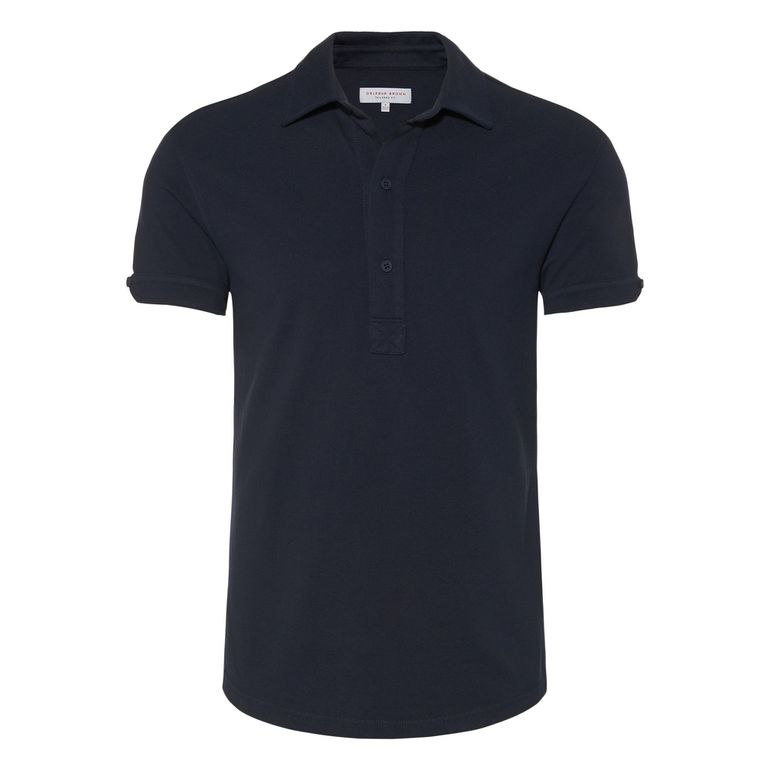 Orlebar Brown SEBASTIAN Navy Tailored Fit  Piqué Polo