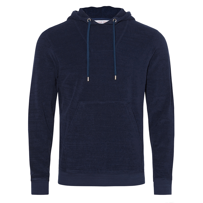 Orlebar Brown KARSON TOWELLING Navy Classic-Fit Hooded Sweatshirt