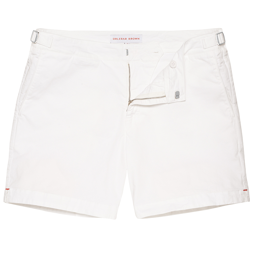 Orlebar Brown BULLDOG COTTON TWILL White Mid-Length Short