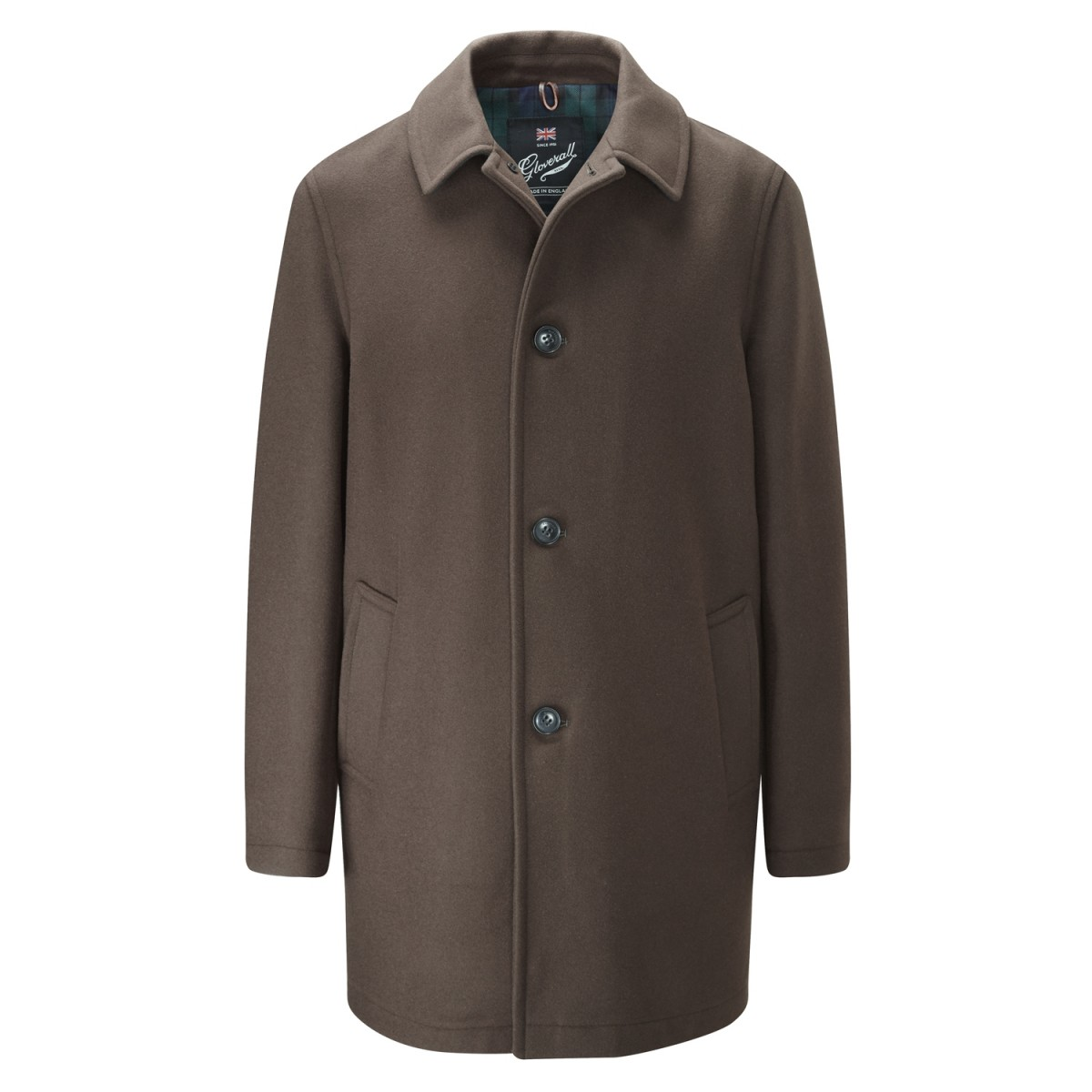 Gloverall Khaki Men's Casual Overcoat