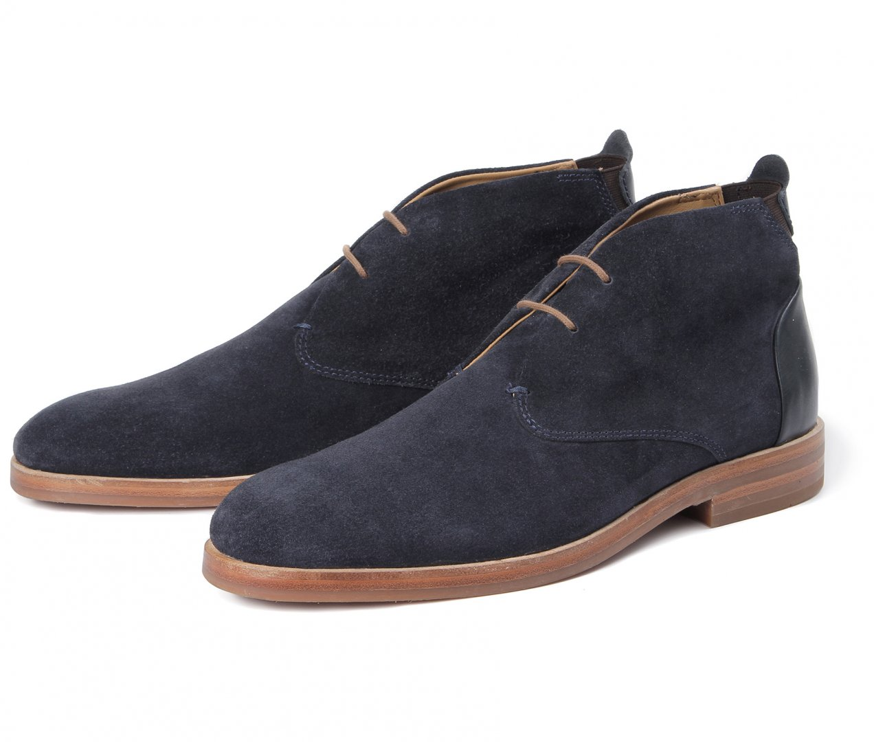 Hudson Shoes Matteo Suede Navy Boot