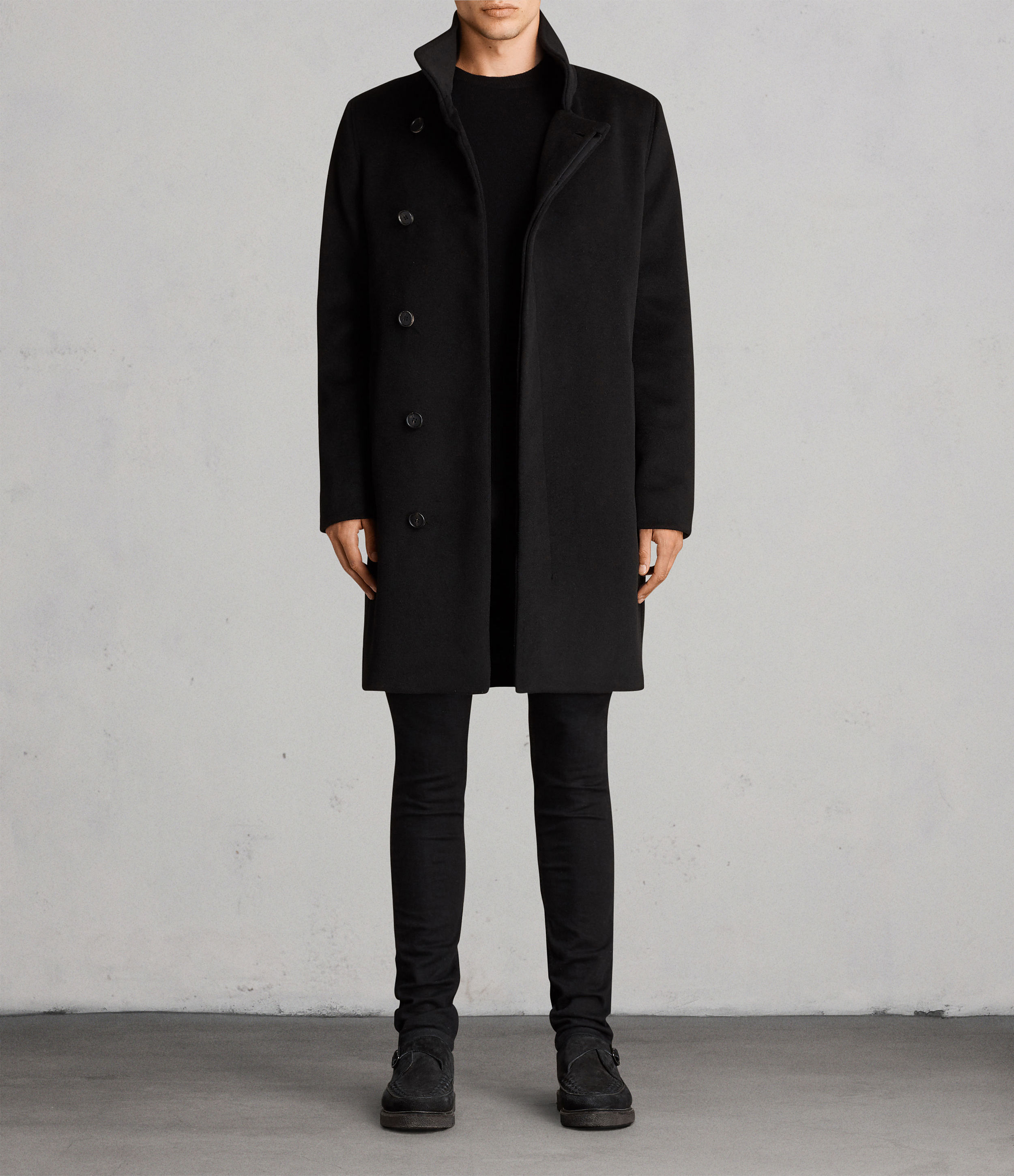 AllSaints Black Eskra Coat