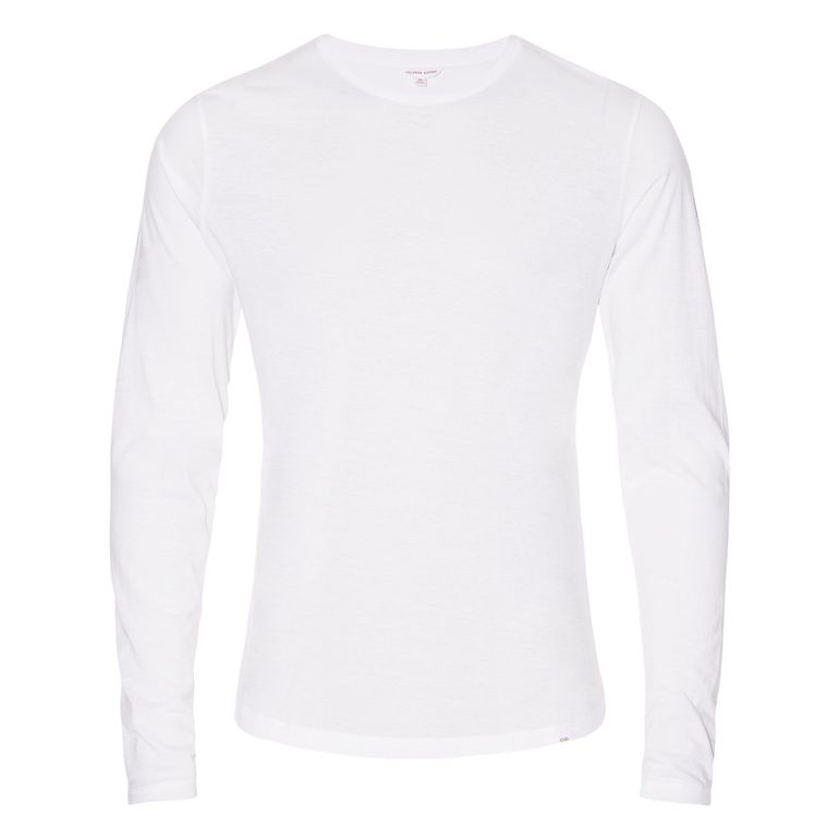 Orlebar Brown OB-T White Tailored Fit Long-Sleeve T-Shirt