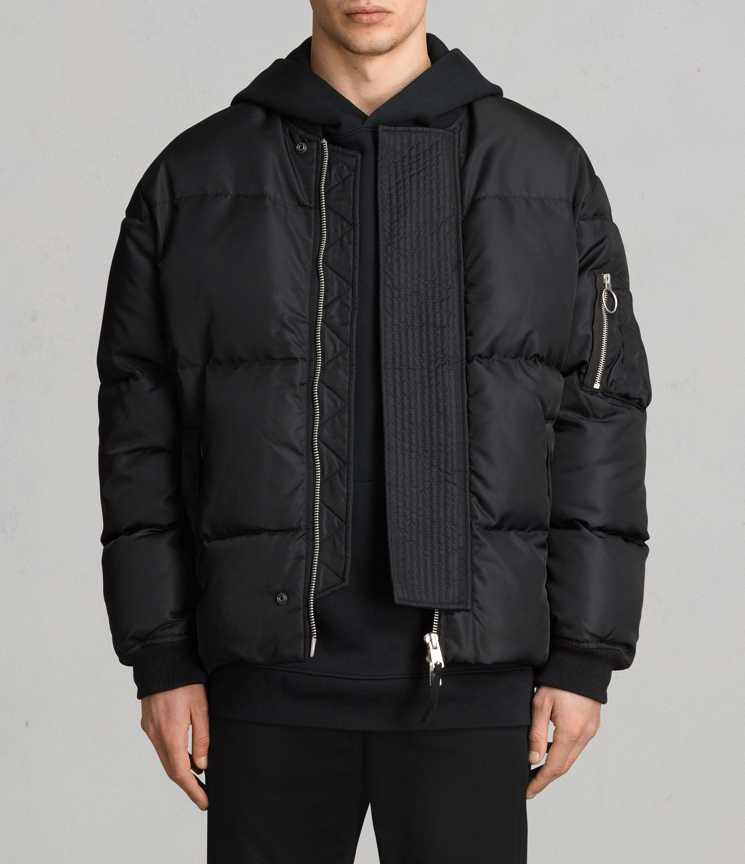 AllSaints Ink Navy Caisey Puffer Jacket