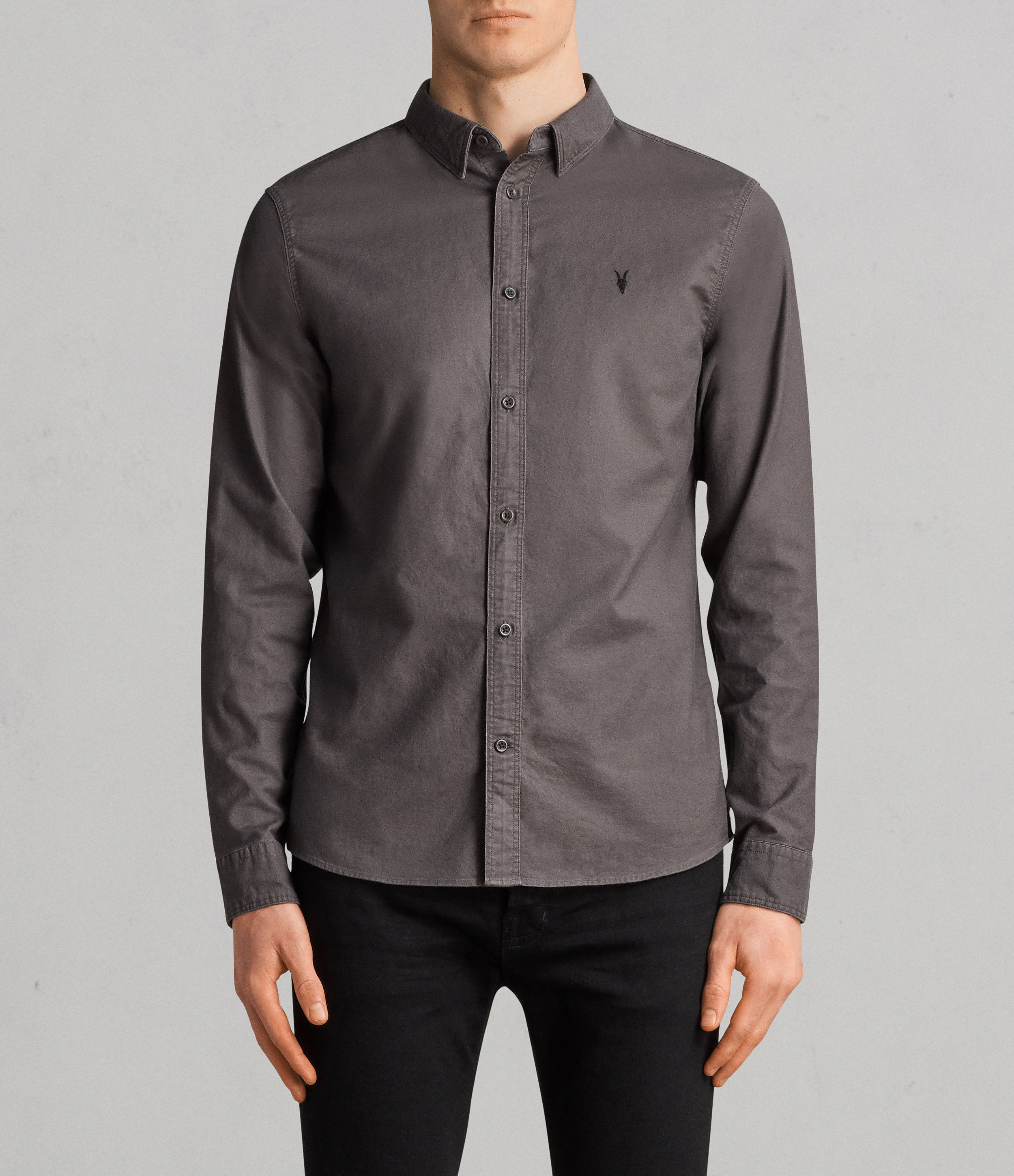 AllSaints Heath Grey Hungtingdon Shirt