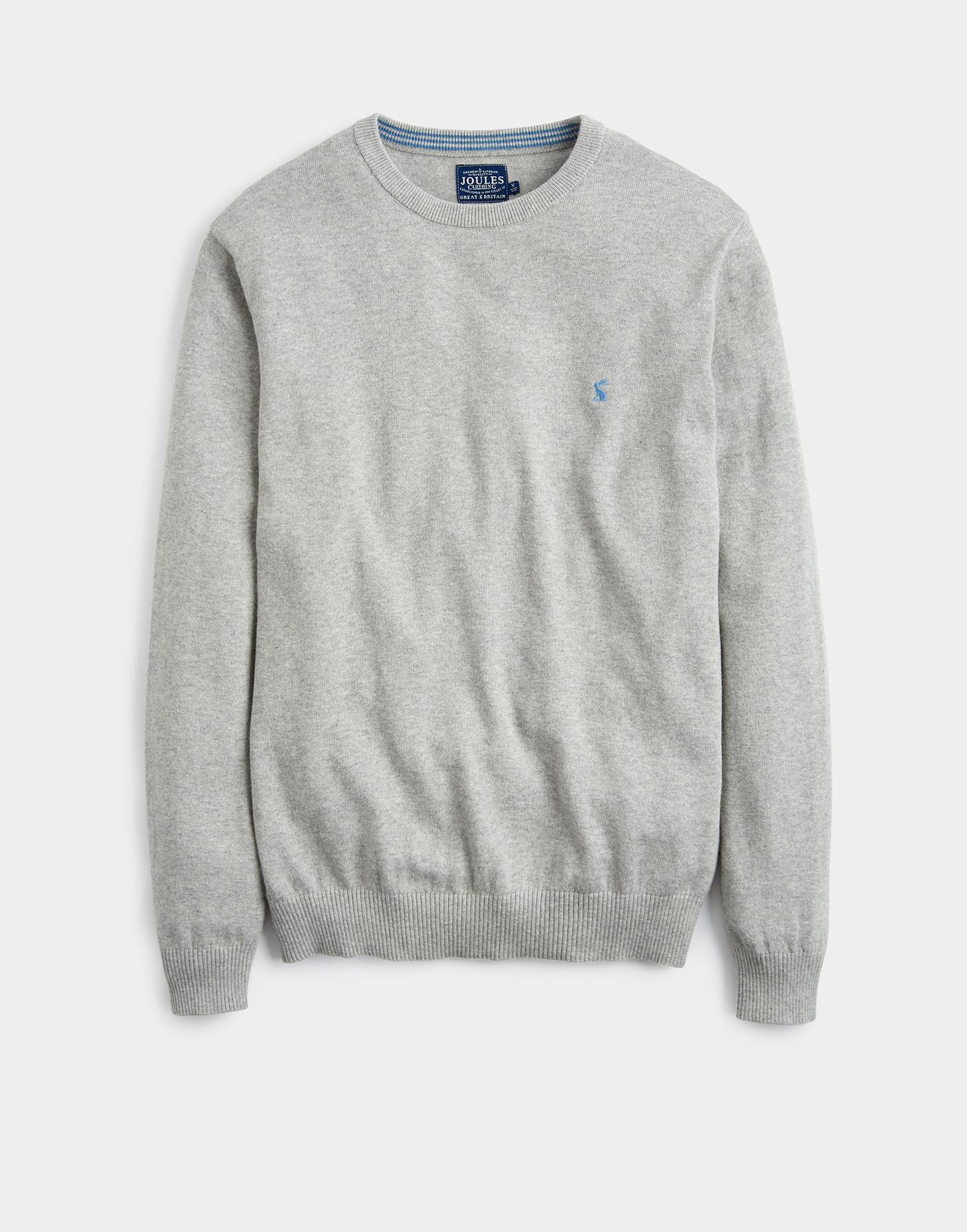 Joules Pale Grey Marl RETFORD Crew Neck Jumper