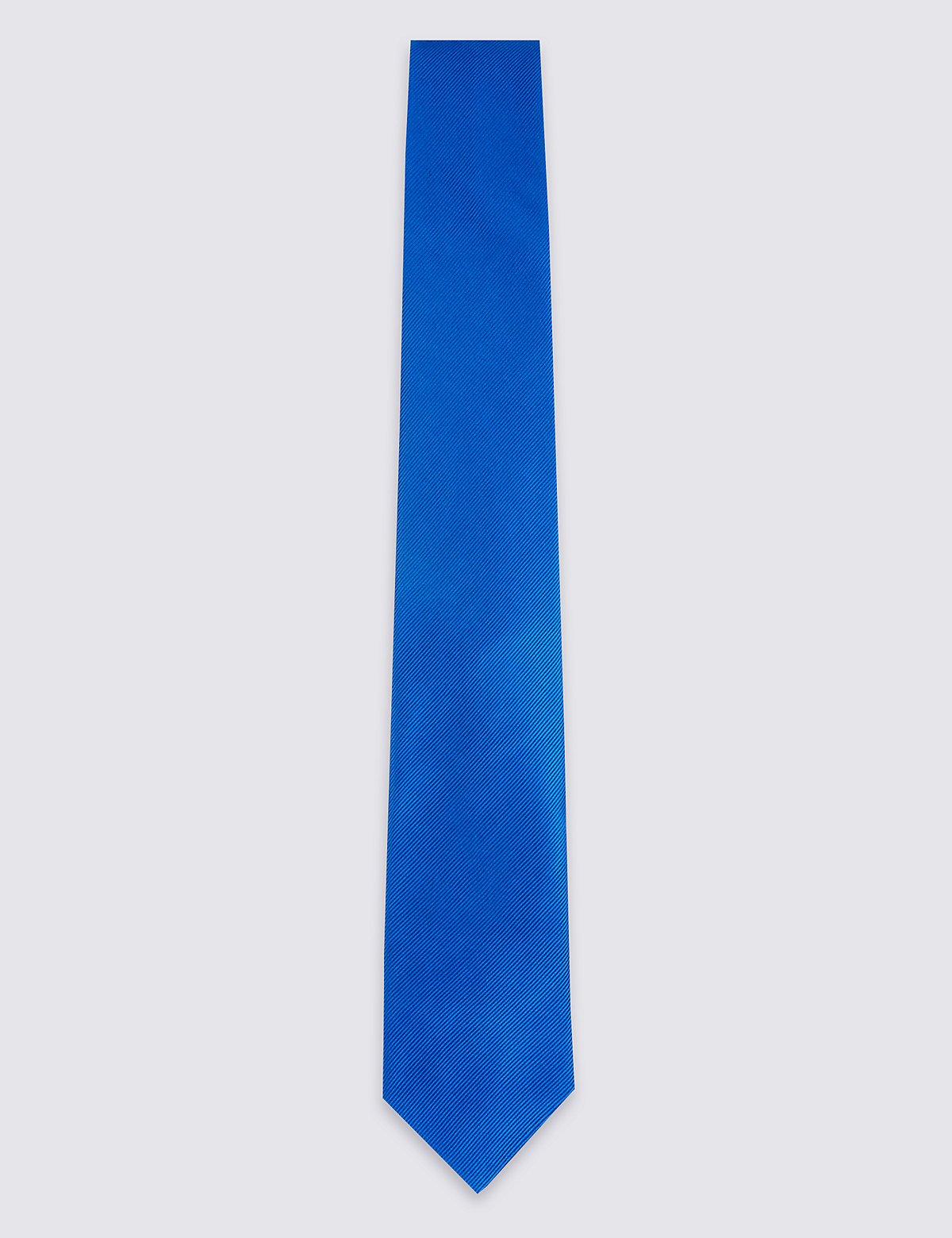 Marks & Spencer Royal Blue Pure Silk Satin Twill Tie