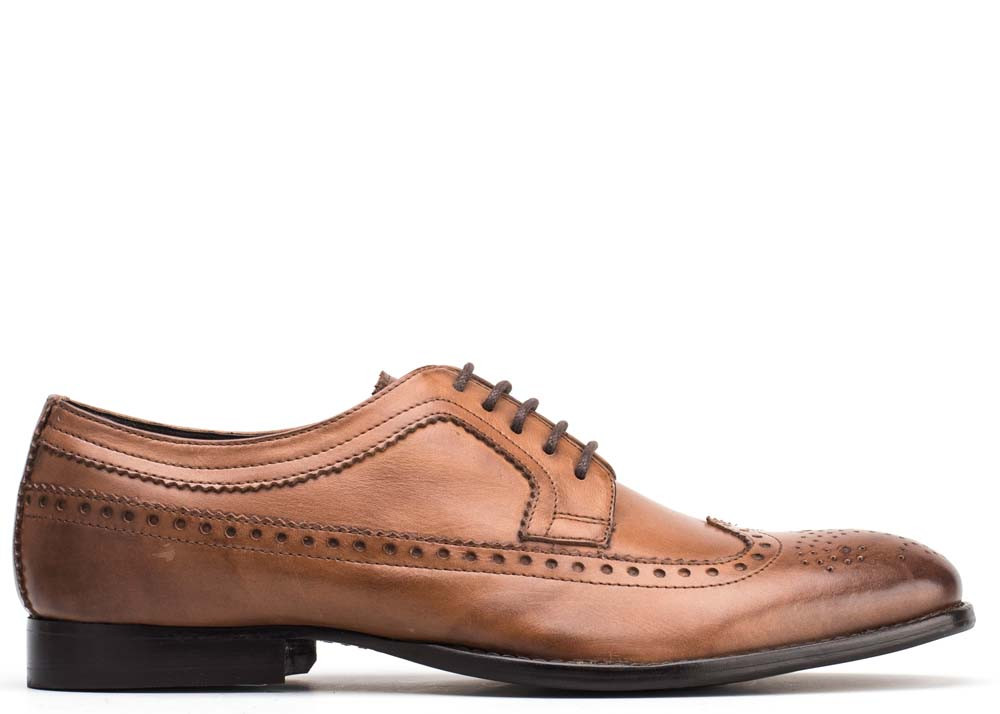 Base London Grain Tan Bailey Brogues