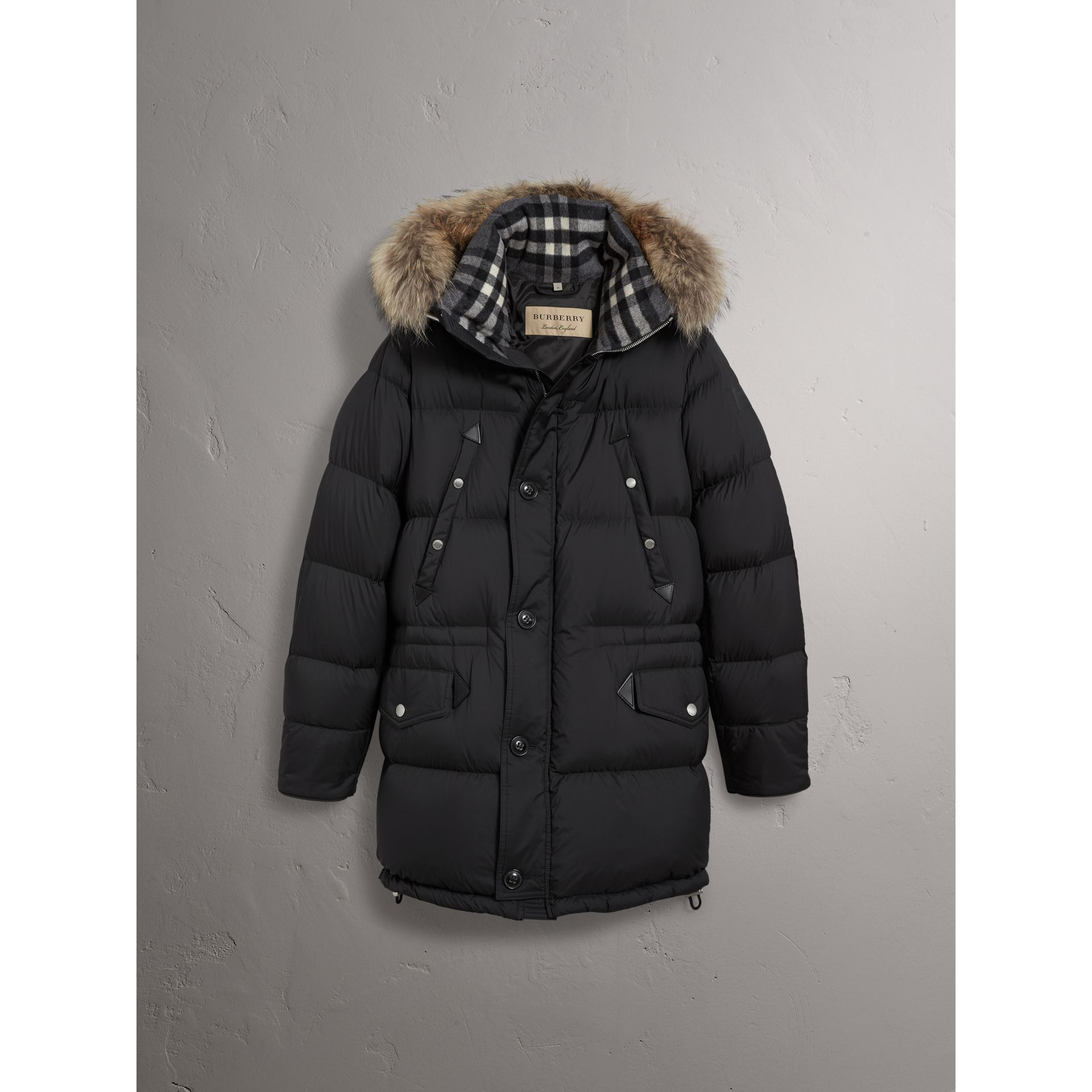 7427741c3 Detachable Raccoon Fur Trim Hood Down-filled Parka by Burberry