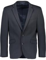 Slim Fit Cotton Blend Blazer in Navy