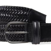 Anderson's Stretch Woven Leather Belt in Black