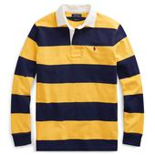 Iconic Rugby Shirt in Yellow and Navy