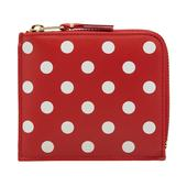 Comme des Garcons SA3100PD Polka Dot Wallet in Red