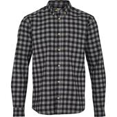 Slim Check Shirt in Black
