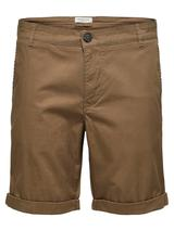 Organic Cotton Chino Shorts in Brown