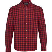 Slim Check Shirt in Red