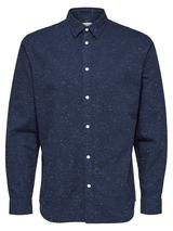 Slim Fit Organic Blend Shirt in Navy