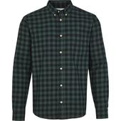 Slim Check Shirt in Green