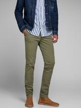 Marco Bowie Slim Fit Chinos in Green