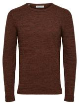 Victor Crew Neck Jumper in Brown