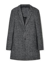 Single Breasted Overcoat in Grey