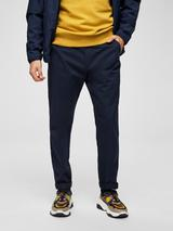 Organic Cotton Tapered Chinos in Navy