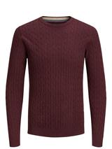 Cable Knit Jumper in Red