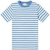 Stripe T-Shirt in White and Blue