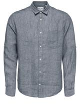 Linen Shirt in Navy