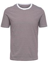 Regular Fit Stripe T-Shirt in Red