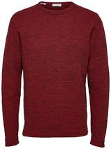 Victor Crew Neck Jumper in Red