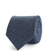 Ceremony Textured Silk Tie in Navy