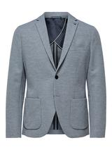 Slim Fit Patch Pocket Blazer in Grey