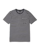 Antill Striped Crew Neck T-shirt in Neutral and Navy