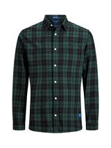 Check Shirt In Relaxed Fit in Green