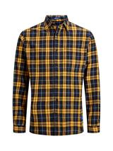 Check Shirt In Relaxed Fit in Yellow and Navy