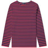 Armor-Lux 1525 Long Sleeve Loctudy Tee in Red and Navy
